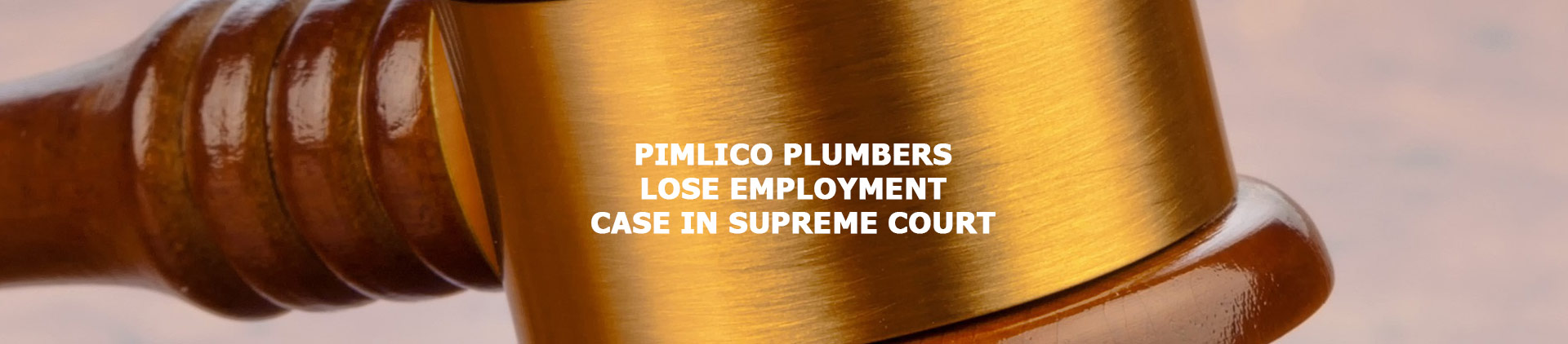 PIMLICO PLUMBERS LOSE EMPLOYMENT CASE IN SUPREME COURT